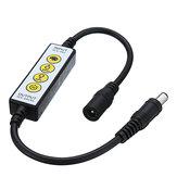 DC5-24V Controllore dimmer a 4 tasti DC Connettore per luce monocromatica LED