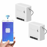 2pcs SONOFF Mini interrupteur intelligent bidirectionnel 10A AC100-240V Fonctionne avec Amazon Alexa Google Home Assistant Nest prend en charge le mode DIY Permet de Flash le firmware