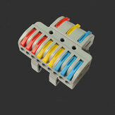 Docking Quick Wire Connector LT-933D Universal Electrical Splitter Cable Push-in Conductor Terminal Block With Rail for LED Light