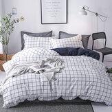3/4pcs Bedding Sets Linen Simple Design Bed Sheet Duvet Cover Pillow Case Sets For Home