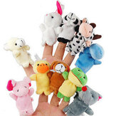 Family Finger Puppets Soft Cloth Animal Doll Baby Hand Toys For Kid Children Educational Gift