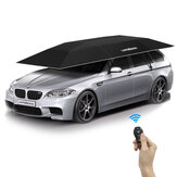 Lanmodo Automatic Car Umbrella Cover Zelt Fernbedienung Tragbar Wasserdicht UV Proof Sun Shade Carport Wasserdicht Allwetter-Marineblau mit doppeltem Verwendungszweck und Ständer