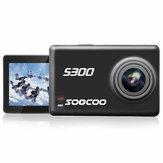SOOCOO S300 Hi3559V100 IMX377 8G Sensör 2.35 İnç Dokunmatik LCD with WiFi Gryo Ses Kontrolü Harici mikrofon GPS 12MP CMOS Spor Eylemi Kamera