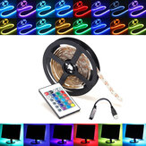 0.5 / 1/2/3/4 / 5M RGB SMD5050 LED Strip Tape ضوء TV Backlilghting Kit + USB التحكم عن بعد مراقبة DC5V