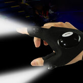 Unisexe LED Light Outdoor Sport Night Fishing gants demi-doigts imperméables