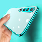Bakeey for Xiaomi Mi10 Mi 10 Case 2 in 1 Plating Lens Protect Ultra-Thin Anti-Fingerprint Shockproof Transparent Soft TPU Protective Case Non-original