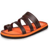 Hombres Playa Zapatilla al aire libre Fashion Clip Toe Sandalias