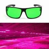 Proteção para os olhos Planta LED Óculos de proteção Anti-reflexo Anti-UV Green Lens Óculos para Efeito Estufa