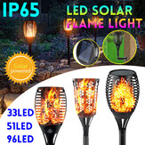 33/51/96 LED Solar Garden Flame Light Waterproof Flickering LED Torch Landscape Christmas Decorations Lamp