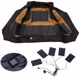 USB Rechargeable Jacket Heating Pad Outdoor Themal Warm Winter Heating Vest Pads for DIY Heated Clothing