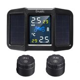 Enusic ™ T400 Solar Power + USB TPMS Waterproof LCD Display Motorcycle Real Tijd bandenspanningscontrolesysteem Draadloze WI externe sensor