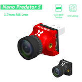 Foxeer Nano Predator 5 Racing FPV Camera 14*14mm 1000tvl 1.7mm M8 Lens 4ms Latency Super WDR