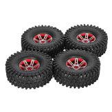 4Pcs AUSTAR AX-5020B 1.9 Inch 1/10 Rock Crawler Tires with Metal Hub for Traxxas SCX10 AXIAL RC Car