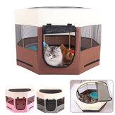 600D ampio spazio recinto per box per cani gatto con otto pannelli pieghevoli in tessuto Oxford e maglia per gatti