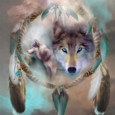 DIY 5D Diamond schilderij Kit Dream Catcher Wolf handgemaakte Craft Cross Stitch borduurwerk Home wanddecoratie