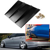 Universel ABS Bil bagstød 4 Fins diffuser Protector Auto Modifikation Spoiler 22