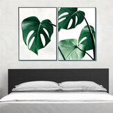 1 Piece Canvas Print Painting Nordic Green Plant Leaf Canvas Art Poster Print Wall Picture Home Decor No Frame