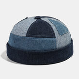 Collrown herre-udlejer hat Sommer Street Trends Melon Cap Denim Brimless Hats