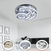 40cm 32W Modern Chandelier Crystal LED Ceiling Light Living Bedroom Fixture Decor AC85-265V