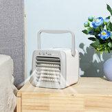 Mini ventilador del enfriador de aire Refrigeración silenciosa portátil Modo de calefacción Ventilador de carga de carga USB compacto Ventilador personal Pequeño piso Oficina Hogar Habitación completa Aire acondicionado