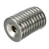 10шт N35 20x3мм Потайные кольцевые магниты с 5 мм отверстиями Сильные неодимовые дисковые магниты
