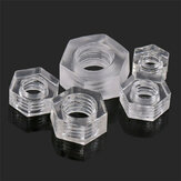 Suleve™ MXHN1 50Pcs Transparent Acrylic Nuts Hex Plastic Nut Washer Hexagonal Lock Nuts M2 M3 M4 M5