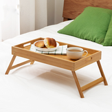Bamboo Breakfast Tray Bed Tray Laptop Desk Table with Foldable Legs