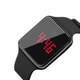 SENORS SN145 Dynamic LED Screen Alarm Calendar 12/24 Hour Luminous Waterproof  Silicone Strap Digital Watch