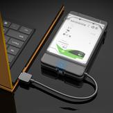 2.5インチHDDSSDエンクロージャーケースSATA-USB3.0ハードディスクドライブボックス5Gbpハードディスクドライブエンクロージャーアダプター