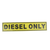 31*156mm DIESEL ONLY Vinyl Safety Sticker Label Waterproof Signs Car Taxi