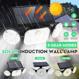 70COB/70LED/78LED Solar Motion Sensor Light Outdoor 3-Head Security Wall Lamp Floodlight Waterproof