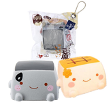 Cibo squishy Tofu giapponese 6.5CM Jumbo Toys Kawaii Expression Gift Collection Con Packaging