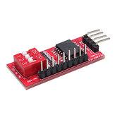 PCF8574 PCF8574T E / S pour I2C Prise en charge d'interface de port IIC Carte d'extension de module étendu en cascade Haut bas niveau Geekcreit pour Arduino - produits compatibles avec les cartes Arduino officielles