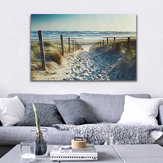 Ocean Beach voetafdruk Canvas Prints schilderijen Wall Art Home Decor Unframed