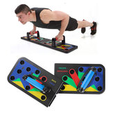 11 in 1 Removable Push Up Stand Board w/ Storage Bag Home Fitness Abdominal Muscle Training Sit-up Equipment