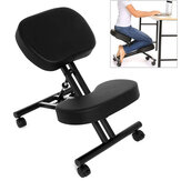 Kneeling Chair Corrective Seat Rollers Height Adjustable Stable Office Home Chair Knee Cushion