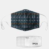 Polvere geometrica stile etnico Maschera PM2.5 Guarnizione 7 pezzi