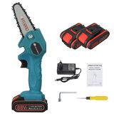 VIOLEWORKS 4 Zoll 88VF Akku-Elektro-Einhandsäge Kettensäge Holzbearbeitung Schneidwerkzeug mit 1 Stück oder 2 Stück Batterie Satz
