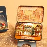 iiecreate T-006 Happiness T-007 Nieuw-Zeelandse boerderij DIY Blikken doos Secret Dollhouse Miniature Gift