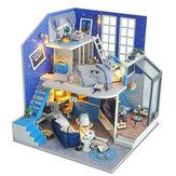 2020 Noel Dekorasyonu DIY Doll Ev Ahşap Doll Evleri Minyatür Dollev Mobilyaları Kit Çocuklar İçin Oyuncaklar Yeni Yıl Noel Hediyesi