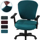 2Pcs/set Elastic Office Chair Cover Corn Fleece Computer Rotating Chair Protector Stretch Armchair Seat Slipcover Home Office Furniture Decoration