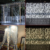 3 M * 3 M 304 LED Venster Ijspegel Gordijn Fairy String Licht Bruiloft Home Decor US Plug AC110V