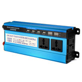 5000W LCD Solor Power Inverter DC 12V/24V/48V To AC 220V Converter 3 Sockets 4 USB Ports