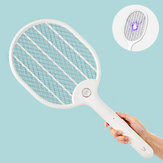 Jordan&judy 3000V Electric Mosquito Swatter Portable Camping Travel Three-layer Anti-electric Shock Net USB Charging Mosquito Dispeller from Xiaomi youpin