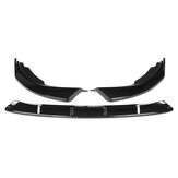 Front Bumper Lip Spoiler Splitter Gloss Black For BMW 3 Series G20 G28 2019-2020