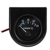 2 '' 52 mm 40-120 ℃ Eléctrico universal Coche Indicador de temperatura del agua LED Puntero