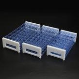 Support de support de tube de centrifugeuse détachable pour support de tube à essai de laboratoire en plastique de 3 couches pour tubes de 13/16 / 18mm 40/50 trous
