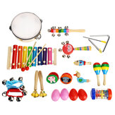 24Pcs / Set Baby Boy Girl Musical Orff Instruments Kit Percussion Giocattoli per bambini Regali