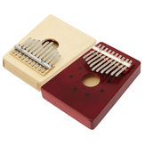 10 Tone Red/Natural Color Portable Wood Kalimba Thumb Piano Finger Percussion