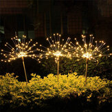 Outdoor Solar Garden Stake Lights Dandelions Lamps 90/120/150 LED Lawn Landscape